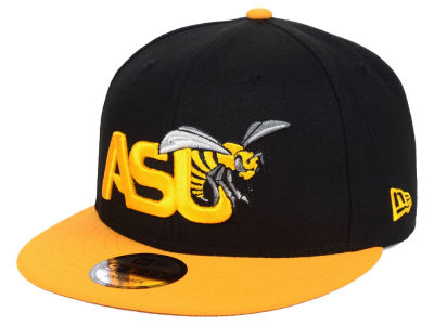 Alabama State Hornets New Era NCAA Black Team Color 9FIFTY Snapback Cap