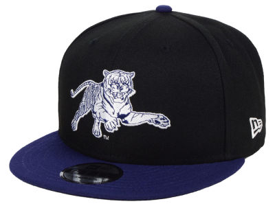 Jackson State Tigers New Era NCAA Black Team Color 9FIFTY Snapback Cap
