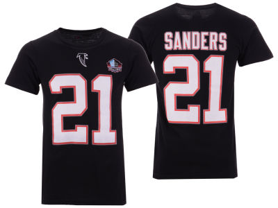 Atlanta Falcons Deion Sanders Majestic NFL Men's Hall of Fame Eligible Receiver Triple Peak T-Shirt