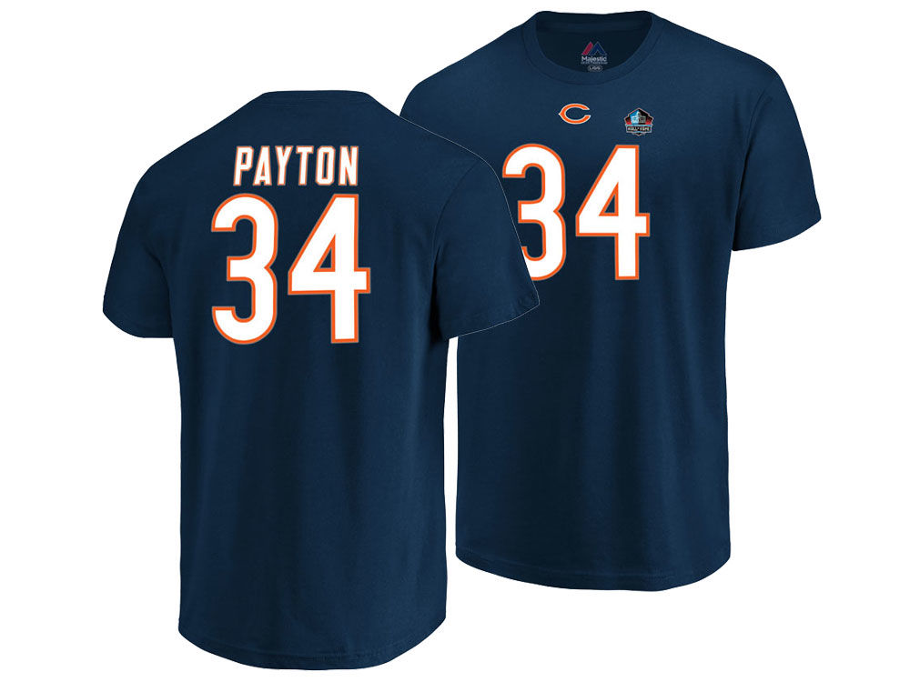 Chicago Bears Walter Payton Majestic NFL Men s Hall of Fame Eligible  Receiver Triple Peak T-Shirt  760d0b24dc37