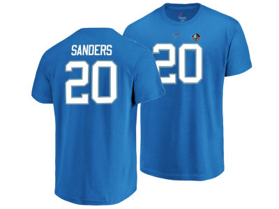 Detroit Lions Barry Sanders Majestic NFL Men's Hall of Fame Eligible Receiver Triple Peak T-Shirt
