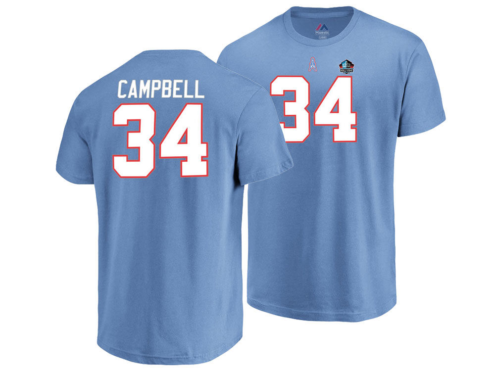 Houston Oilers Earl Campbell Majestic NFL Men s Hall of Fame Eligible  Receiver Triple Peak T-Shirt  033f1b206