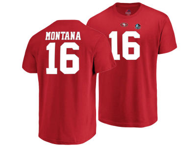 San Francisco 49ers Joe Montana Majestic NFL Men s Hall of Fame Eligible  Receiver Triple Peak T 23b2e039c