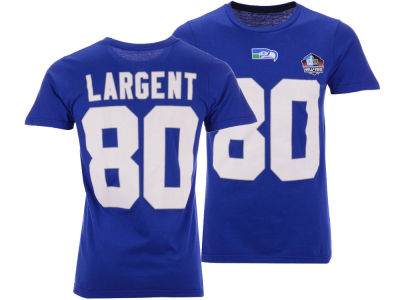 Seattle Seahawks Steve Largent Majestic NFL Men s Hall of Fame Eligible  Receiver Triple Peak T- b410fc854