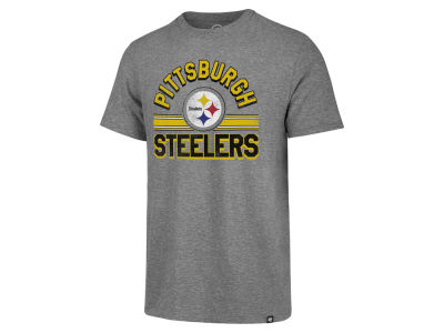 Pittsburgh Steelers '47 NFL Men's Team Stripe Match Tri-blend T-Shirt