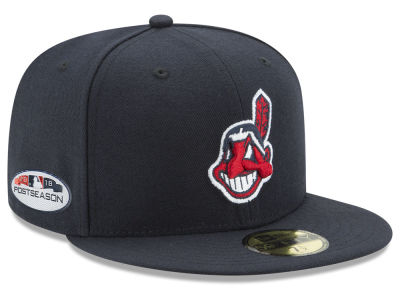 Cleveland Indians New Era 2018 MLB Postseason Patch 59FIFTY Cap