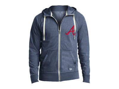 Atlanta Braves New Era MLB Men's Sueded Full Zip Hoodie