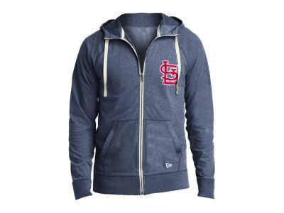 St. Louis Cardinals New Era MLB Men's Sueded Full Zip Hoodie