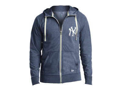 New York Yankees New Era MLB Men's Sueded Full Zip Hoodie