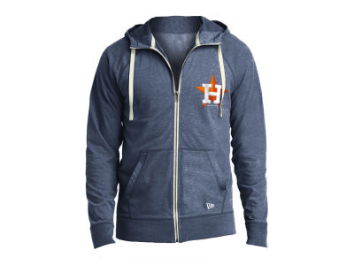Houston Astros New Era MLB Men's Sueded Full Zip Hoodie
