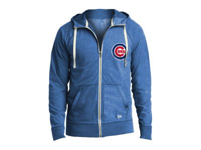 Chicago Cubs New Era MLB Men's Sueded Full Zip Hoodie