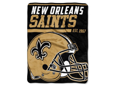 "New Orleans Saints The Northwest Company Micro Raschel 46x60 ""40 Yard Dash"" Blanket"