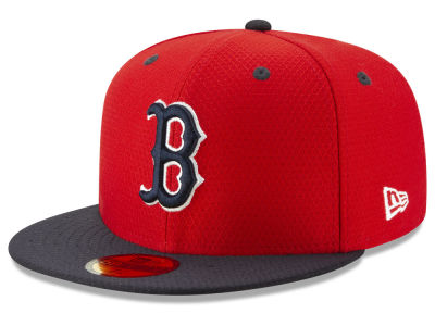 Boston Red Sox New Era 2019 MLB Kids Batting Practice 59FIFTY Cap bd39545d8a0