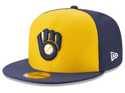 Milwaukee Brewers New Era 2019 MLB Kids Batting Practice 59FIFTY Cap bbd36063c758