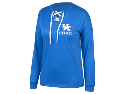 Kentucky Wildcats Top of the World NCAA Women's Lace Up Long Sleeve T-Shirt
