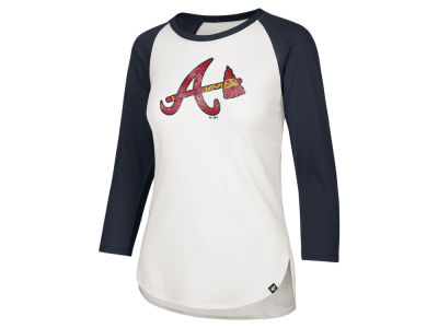 Atlanta Braves '47 MLB Women's Imprint Splitter Raglan T-Shirt