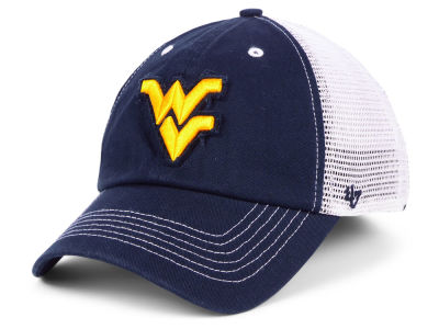 West Virginia Mountaineers '47 NCAA Blue Mountain CLOSER Cap