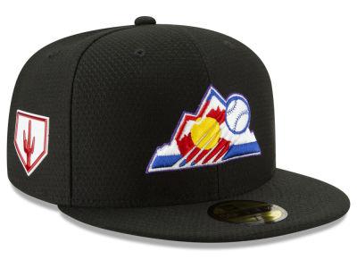 046b4fab16d Colorado Rockies New Era 2019 MLB Spring Training 59FIFTY Cap