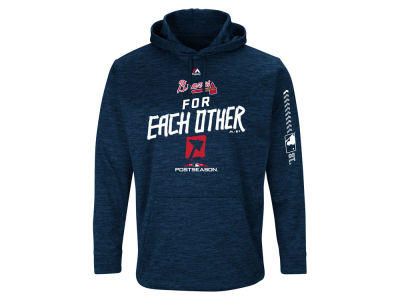 Atlanta Braves 2018 MLB Men's Postseason Ultra Fleece Hoodie