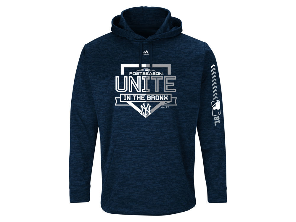New York Yankees Majestic 2018 MLB Men s Postseason Ultra Fleece Hoodie  fa5fbf4ea0a