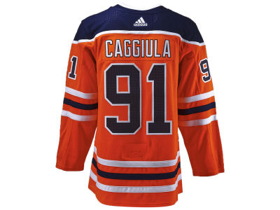 Edmonton Oilers Drake Caggiula adidas NHL Authentic Player Jersey