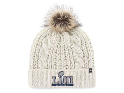 Super Bowl LIII '47 NFL Women's Meeko Cuff Pom Knit