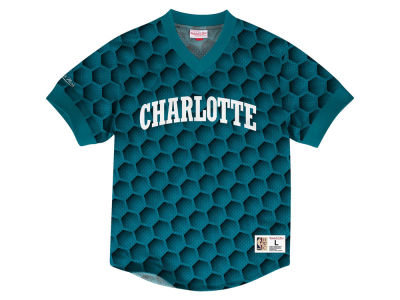 Charlotte Hornets Mitchell & Ness NBA Men's Kicking It Wordmark Mesh T-Shirt