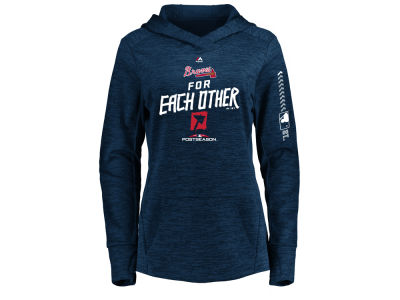 Atlanta Braves Majestic 2018 MLB Women's Postseason Hoodie