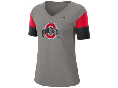 Nike NCAA Women's Breathe V-Neck T-Shirt