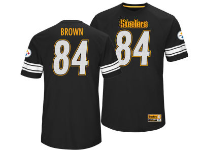 Pittsburgh Steelers Antonio Brown Majestic NFL Men's Name and Number Hashmark T-shirt