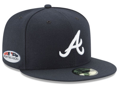 Atlanta Braves New Era 2018 MLB Postseason Patch 59FIFTY Cap