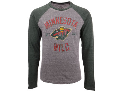 Minnesota Wild NHL Men's Heritage Long Sleeve Raglan T-shirt