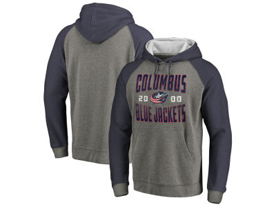 Columbus Blue Jackets Majestic NHL Men's Antique Tri-blend Hoodie