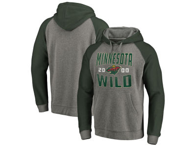 Minnesota Wild NHL Men's Antique Tri-blend Hoodie