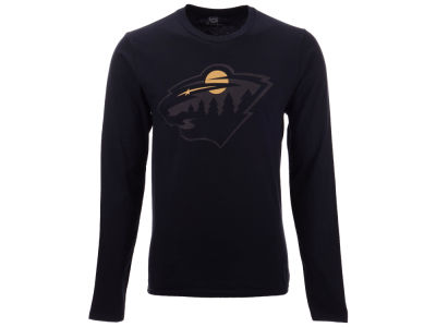 Minnesota Wild NHL Men's Blackout Long Sleeve T-Shirt