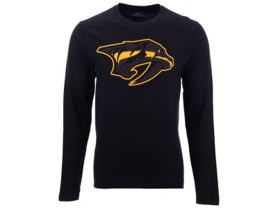 Nashville Predators NHL Men's Blackout Long Sleeve T-Shirt