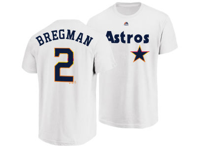 Houston Astros Alex Bregman Majestic MLB Men's Official Player T-Shirt