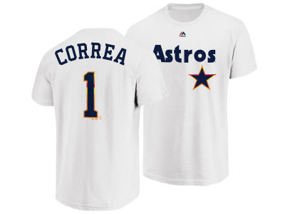 Houston Astros Carlos Correa Majestic MLB Men's Official Player T-Shirt