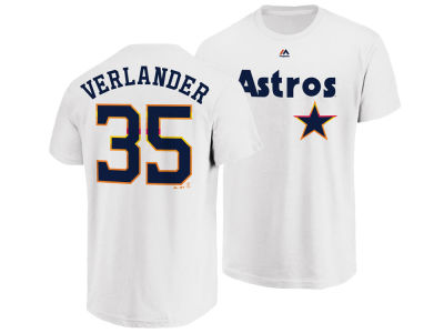 Houston Astros Justin Verlander Majestic MLB Men's Official Player T-Shirt