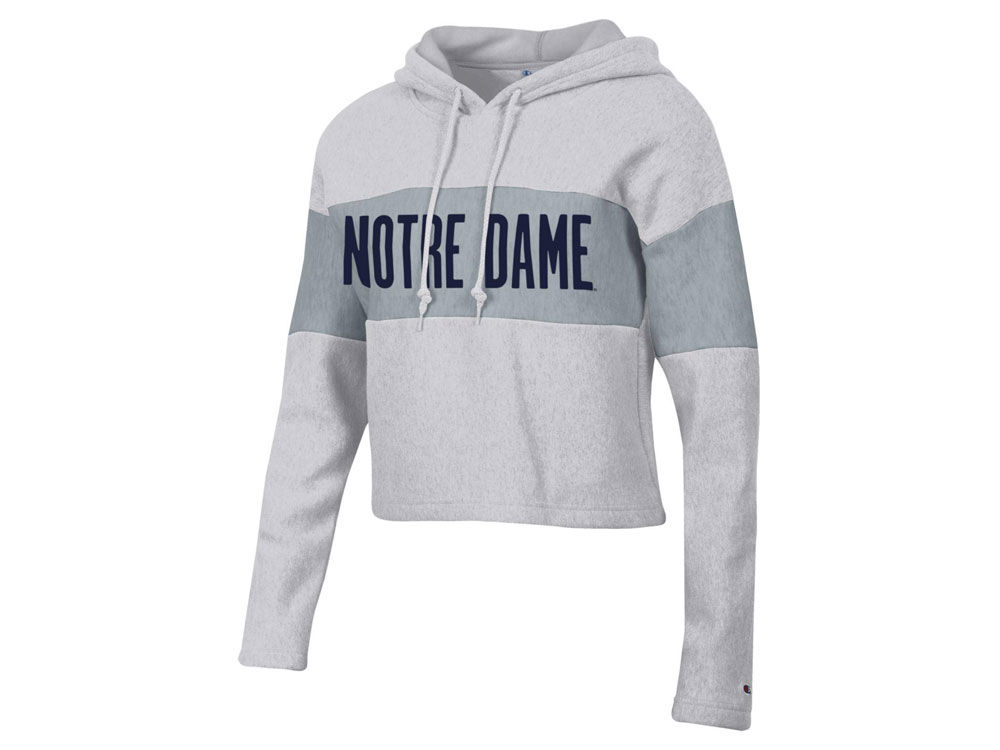 759e9e136 Notre Dame Fighting Irish Champion NCAA Women s Reverse Weave Crop Hooded  Sweatshirt