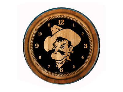 Oklahoma State Cowboys Timeless Etchings NCAA Wine Barrell Clock