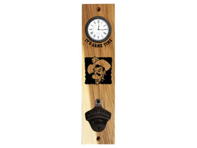 Oklahoma State Cowboys Timeless Etchings NCAA Clock Bottle Opener