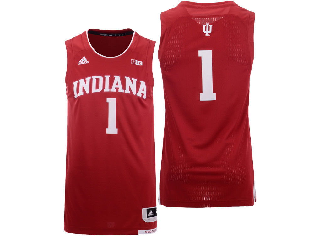 Indiana Hoosiers adidas 2018 NCAA Men s Replica Basketball Jersey ... 271890283