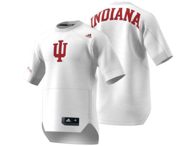 Indiana Hoosiers adidas NCAA Men's Warm Up Short Sleeve Shirt