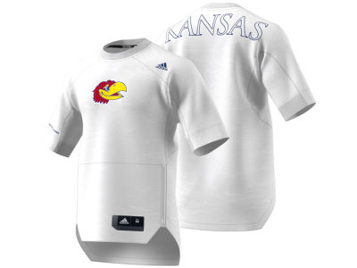Kansas Jayhawks adidas NCAA Men's Warm Up Short Sleeve Shirt