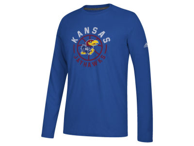 Kansas Jayhawks adidas NCAA Men's Center Court Long Sleeve T-Shirt