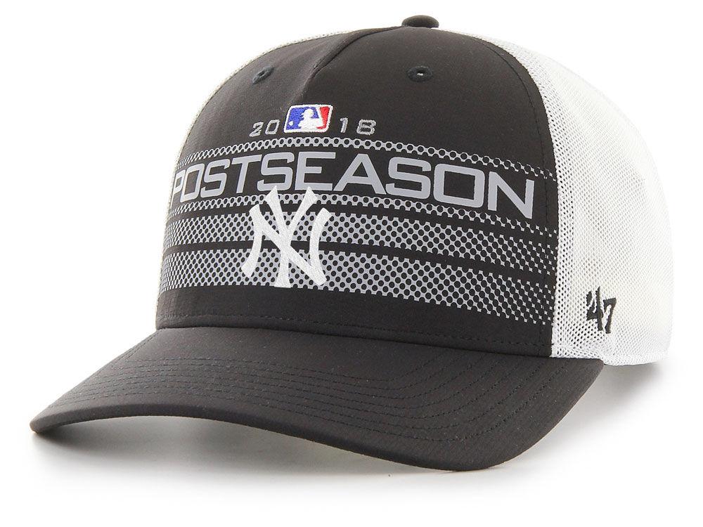 New York Yankees  47 2018 MLB Postseason Locker Room Cap  7a38aef0bb9