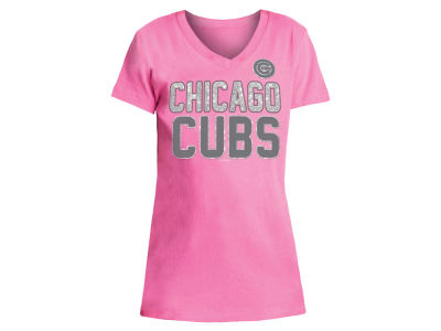 Chicago Cubs 5th & Ocean MLB Girls Glitter Gel Team T-Shirt