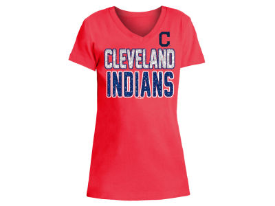 Cleveland Indians 5th & Ocean MLB Girls Glitter Gel Team T-Shirt