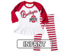 Ohio State Buckeyes NCAA Infant Girls Ruffle Top Set Infant Apparel